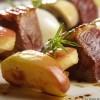 photo Brochettes de magret de canard aux pommes Antarès