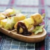photo Brochettes ananas-banane rôties aux épices
