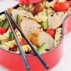 photo Salade de pâtes à l'émincé de poulet mariné au pesto