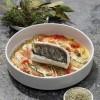 photo Filet de Loup confit à l'huile d'olive et au Sel de Camargue, tian de légumes