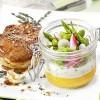 photo Agneau de lait rôti, printanière de légumes à la crème d'ail et son biscuit à la carotte