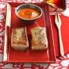photo Rôtie de poivrons et tomates, thon à l'unilatérale