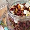 photo Salade de lentilles vertes du Puy, dés de féta et vinaigrette au miel