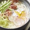 photo Udon de Nagasaki en bouillon à l'oeuf, jambon et crudités