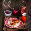 photo Galette des rois du trappeur aux pommes caramélisées et pâte d'amande aux cranberries