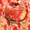 photo Veloute scintillant de perles rubis