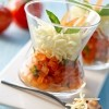 photo Tartare de tomates aux échalotes, spaghetti de mozzarella