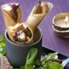 photo Cornet croustillant au foie gras et confiture de figues