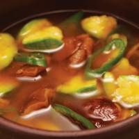 Recette detox - Ragoût à la pâte de soja fermentée et à la courgette
