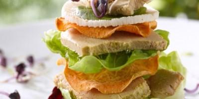 photo Club sandwich de Foie Gras et  fraîcheurs potagères