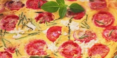 photo Clafoutis au chèvre frais, courgettes et tomates cerise