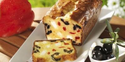 photo Cake aux poivrons, féta et olives