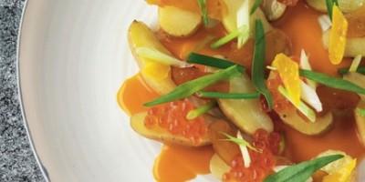 photo Salade de Rattes, pourtague, condiment artichaut-piment