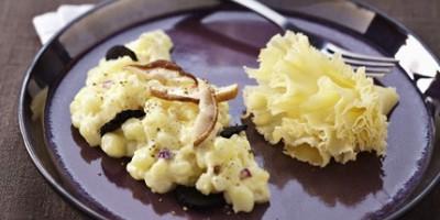 photo Pommes de terre à la Tête de Moine AOC, truffes et cèpes, façon risotto