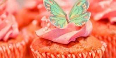 photo Cupcake aux cerises et spéculoos