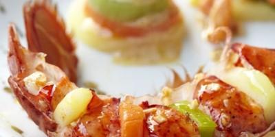 photo homard et légumes à la sauce Champagne