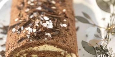 photo Bûche chocolat et caramel au beurre salé