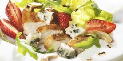 photo Fraîcheur de volaille fraise et Roquefort