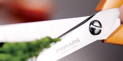 photo Fiskars, la célèbre marque de ciseaux à anneaux orange