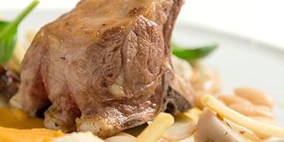 photo Carré d'agneau des Pyrénées, Haricot Tarbais et potiron