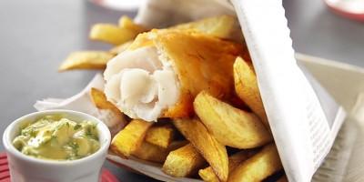 photo Crispy fish & chips sauce tartare