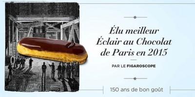 photo L'éclair au chocolat de la Maison Pradier, élu le meilleur de Paris en 2015