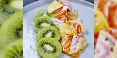 photo Saumon mariné aux agrumes et Kiwi de l'Adour façon Pickles par Mary Henkley, Le chien de Pavlov, Bordeaux