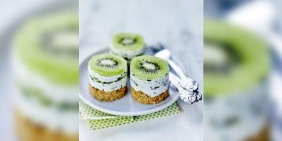 photo Petits cheesecakes au Kiwi de l'Adour IGP, ciboulette et fromage frais