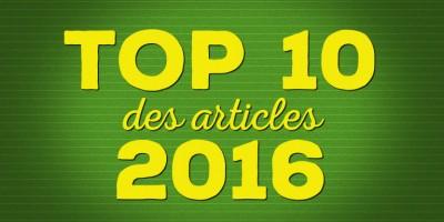photo Top 10 des articles les plus lus en 2016