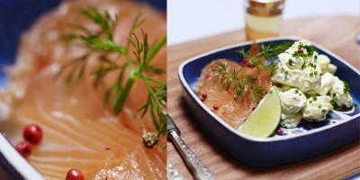 photo Gravlax de saumon et pommes de terre au curry de Madras par Fred Chesneau