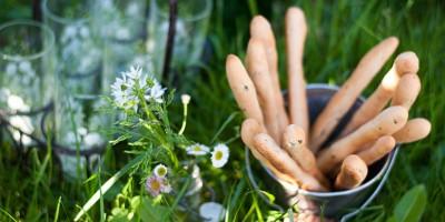 photo Recette facile de gressins au petit épeautre, thym et tahin