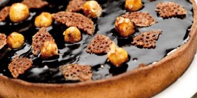 photo Tarte chocolat et noisettes