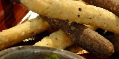 photo Gressins aux olives et pesto de persil