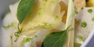 photo Saint Jacques grillées, condiment litchi - wasabi