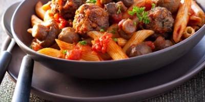 photo Pasta, boulettes de champis et champis…