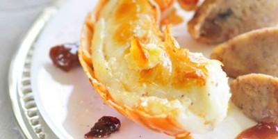 photo Langouste rôtie en carapace au beurre d'orange