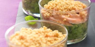 photo Crumble de courgettes aux 2 saumons