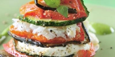 photo Millefeuille de légumes au cabillaud