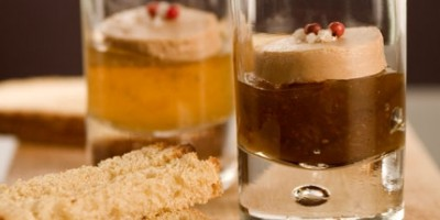photo Verrine de foie gras sur figues