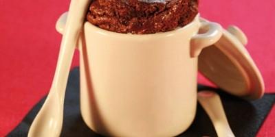 photo Soufflé pour deux au chocolat et cœur coulant de vanille