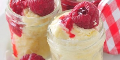 photo Chaud-froid à la vanille & Bisous Fruitée Intense Framboise