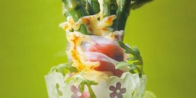 photo Asperges rôties au jambon de Parme et Beaufort