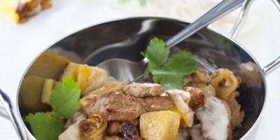 photo Wok d'agneau à l'ananas et noix de coco