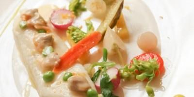 photo Sole au beurre de coques et mini légumes