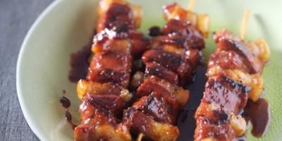 photo Brochettes de foie de veau laquées au miel