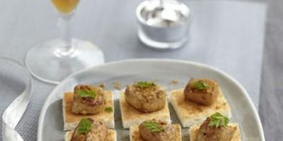 photo Foie gras d'oie rôti aux épices et spéculoos