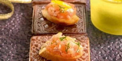 photo Bouchées croustillantes de tartare de saumon