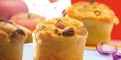 photo Muffins au Beaufort, noix et pommes