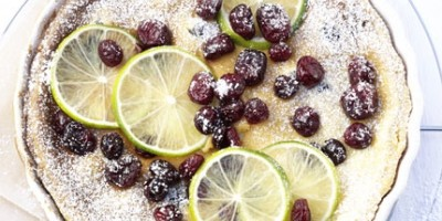 photo Tarte au citron vert et aux US cranberries