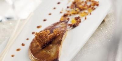 photo Foie Gras Poêlé, crumble de coing et pain d'épices